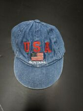 POLO Ralph Lauren USA Vintage Hat Cap Toddler Denim One Size 100% Cotton Clean