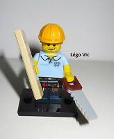Légo 71008 Minifig Figurine Série 13 Carpenter Charpentier + socle