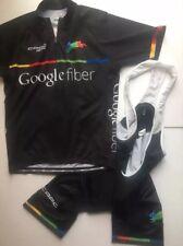 Google Fiber cycling jersey & bibs matching set Capo Sz L M