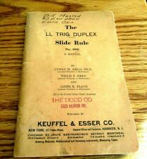 Rare 1937 Keuffel & Esser Co Ll Trig Duplex Slide Rule Instruction Booklet As Is