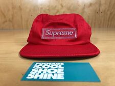 3166f682 SUPREME NYLON PIQUE BOX LOGO 5-PANEL CAMP CAP SPRING SUMMER 2018 SS RED ONE