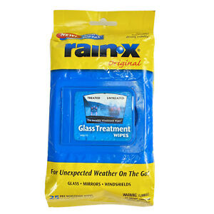 Rain-X Original Glass Treatment Wipes 25 Count 7X11 Snap Pack New Old Stock