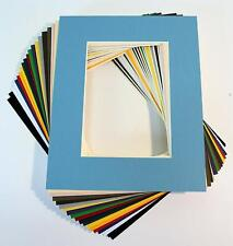 Pack of 20 Mixed Colors 8x10 Picture Mats Matting with White Core Bevel Cut for