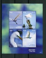 St Vincent & The Grenadines 2015 MNH Great Egret 4v M/S I Birds Egrets