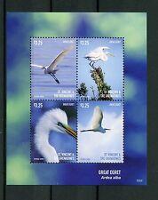 St Vincent & The Grenadines 2015 MNH Great Egret 4v M/S I Birds Egrets