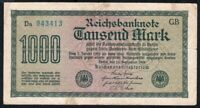 1922 Germany 1000 mark banknote VF circulated P-76e(2)