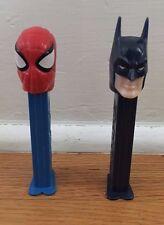 Batman Spiderman Pez Dispensers 2 Set DC Marvel 1995 1999