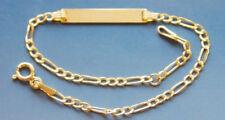 Gold 333 Gelbgold Goldarmband Kinder Baby Figaro Armband 8 Karat Figaroarmband
