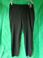 New York & Co Women's Black High Waist Pull On Slim Leg Stretch Pants Large NWT