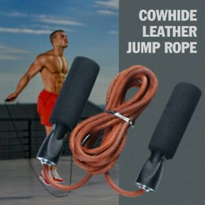 Jump Ropes Leather Adjustable Boxing Skipping Rope Gym Weighted Fitness Skipping