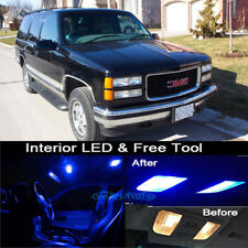 19Pcs Blue LED Lights Interior Package Kit For 1995-1999 GMC Yukon + Free Tool