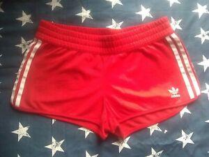 Adidas 3 Stripe Running/Gym Shorts Red Size 8