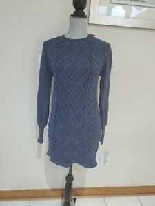 New American Eagle Outfitters Tunic /Short Dress Pullover Sweater Sz Xs Blue