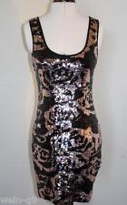 Nuevo Vestido Túnica De Impresión Lipsy Lentejuelas Rosa Nuevo Talla 10