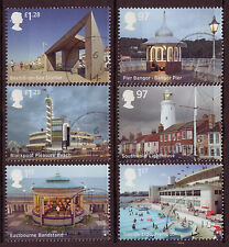 GREAT BRITAIN 2014 SEASIDE ARCHITECTURE SET OF 6 FINE USED