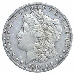 W@W Early 1881-O Morgan Silver Dollar - 90% US Coin - Nice Coin *050