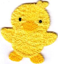 """Yelllow Duck Crochet Sew On Applique (2 1/4"""" x 2"""") Animals Ducks Children Babies"""