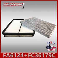 FA6124 FC36179C(CARBON) OEM QUALITY ENGINE & CABIN AIR FILTER: 2011-2014 SONATA