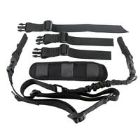 Tactical 2 Point Fast Adjuster Rifle Sling with Shoulder Pad Dynamic Straps
