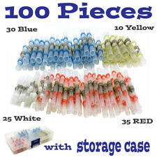 100PCS Solder Sleeve Heat Shrink Butt Waterproof 26-10 AWG Wire Splice Connector