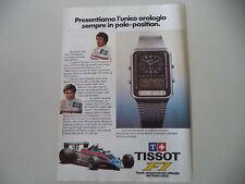 advertising Pubblicità 1980 TISSOT QUARTZ F1 e MARIO ANDRETTI/ELIO DE ANGELIS