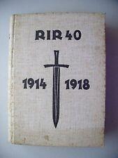 Reserve-Infanterie-Regiment 40 im Weltkrieg 1914/18