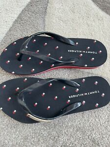 Mädchen Tommy Hilfiger Flip Flops Sandalen Badeschuhe Gr. 36 blau rot neu