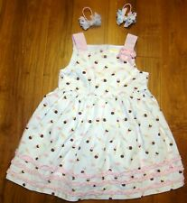 GYMBOREE GIRLS 2T 2 ICE CREAM SOCIAL DRESS & PONY O BOWS SPRING EASTER BIRTHDAY