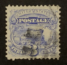 TRAVELSTAMPS: 1869 US Stamps Scott # 114, Locomotive, 3 cents The1869 Pictorials