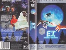 E.T THE EXTRA -TERRESTRIAL SPECIAL EDITION   VHS PAL VIDEO~A RARE FIND