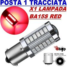 LAMPADA LED Stop Luci Freni BA15S 1156 P21/5W HID 33 SMD 2835 CANBUS ROSSO AUTO
