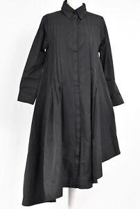 BEAUTIFUL BLACK STRUCTURED ASYMMETRIC DRESS/COAT BY CREARE SIZE L/XL