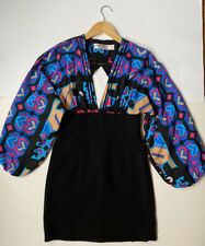 Alice McCall for Topshop size 10 vintage 80s style Pacman dress w/ batwing y2k