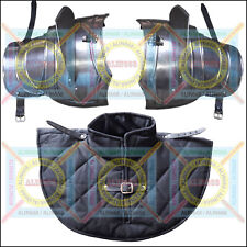 Medieval Iron Steel Body Armour Pauldron Shoulder Neck armor w/ Padded Gorget