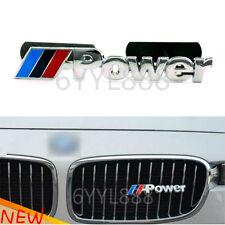 1Pcs 3D Metal /// M Power Logo Car Grill Emblem Front Hood grille Badge For BMW