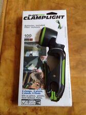 Clamplight Cree LED Flashlight Clamp 100 Lumens Light Swivel Head Hands Free New