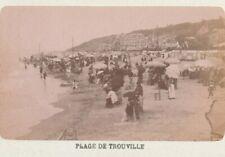 PLAGE DE TROUVILLE 1882 CDV 14 CALVADOS