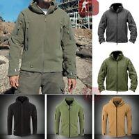 Mens Military Outdoor Winter Warm Fleece Tactical Jacket Outerwear Coats Hoodie