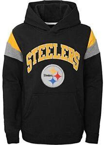 Pittsburgh Steelers Youth Boys Color Block Pullover Hoody Sweatshirt