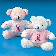 pink ribbon 12 TEDDY BEARS breast cancer awareness
