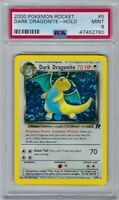 47452780 Mint PSA 9 DARK DRAGONITE Holo Rare #5 │ Team Rocket Unlimited │ 2000