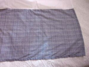 J C Penney Navy and Cream Mini Geometric Print Tailored Queen Bed Skirt