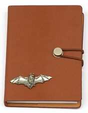 Batman Pewter Emblem Notebook Leather Effect PU  A6 Wildlife Gift