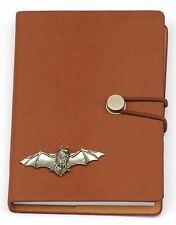 Batman Pewter Emblem Notebook Leather Effect PU  A6 Wildlife Gift