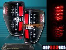 09-14 Ford F150 XL XLT STX FX4 Black Housing LED Tail Lights + 3rd Brake Light