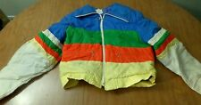 MONTGOMERY WARD vtg youth snow-suit 1970s stripes skiing Rainbow pride