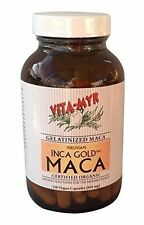 Vitamyr Inca Gold Concentrated Gelatinized Maca Certified Organic Vegan 120 Caps