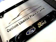 License Plate Frame for FORD Gloss Black Mustang F150 Escape Explorer Focus CMAX