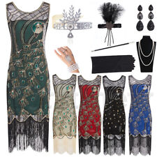 1920s Flapper Great Gatsby 20s Downton Abbey Party Prom Cocktail Evening Dress