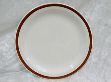 "Bristile / Wembley ware Entree Plate  vgc (8 7/8"") brown band pattern"